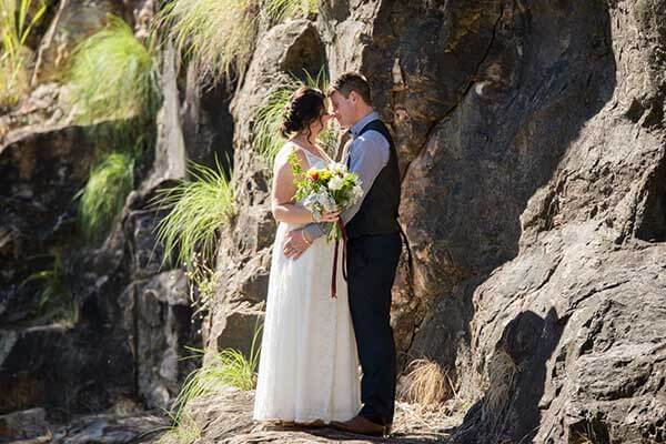 kangaroo point cliff wedding photos